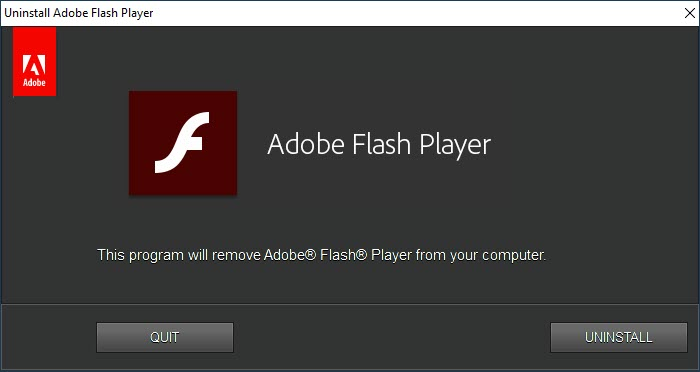How to uninstall Flash Player from Windows