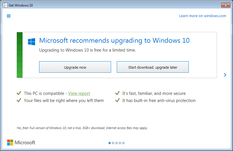 How to disable Windows 10 upgrade notifications