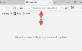 How to affix the Microsoft Edge address bar