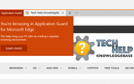 Protect your PC with Application Guard for Microsoft Edge