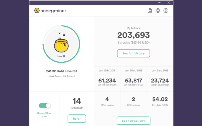 How to earn Bitcoin with Honeyminer