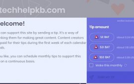 Tip your favorite websites with BAT using Brave browser