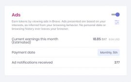Get paid to view ads in Brave browser