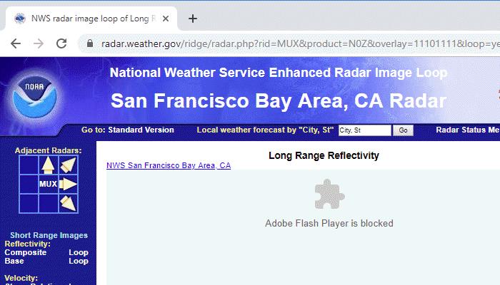 Unblock Flash content in Google Chrome