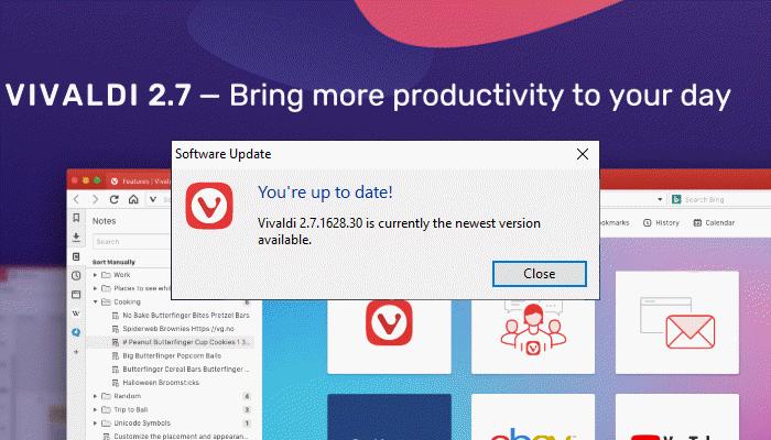 Vivaldi Browser 2.7 Released