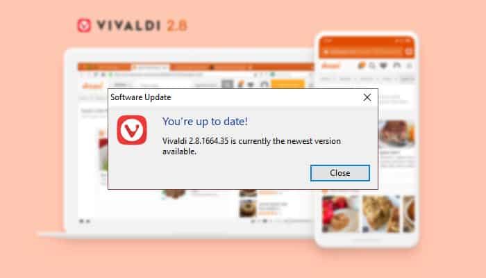 Vivaldi Browser 2.8 Released
