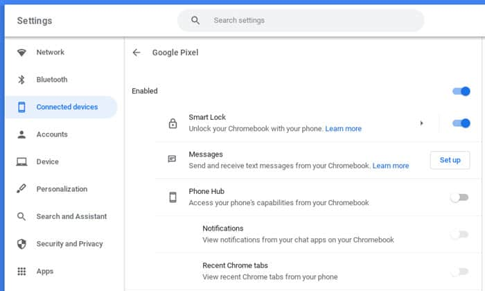 How to connect a phone to a Chromebook