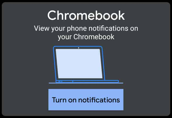 Click the Turn on notifications button on your phone